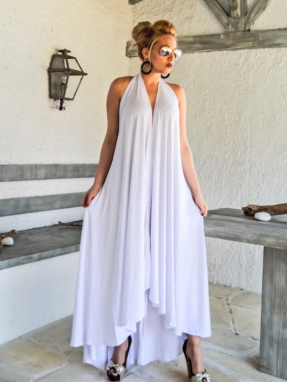 White Maxi Dress / Summer Dress / White Kaftan / Plus Size Dress / Oversize  Loose Dress / Maxi Dress / Maternity Dress / Kaftan / #35189