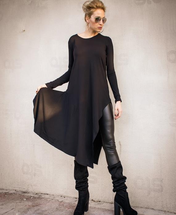 6e7cefd620ce1 Black Asymmetric Top   Asymmetric tunic   Women Black Top