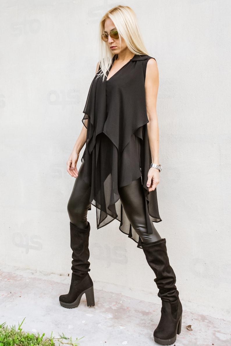 c96452b4dde35 NEW Black Top   Evening Top   Plus Size Top   Black Tunic