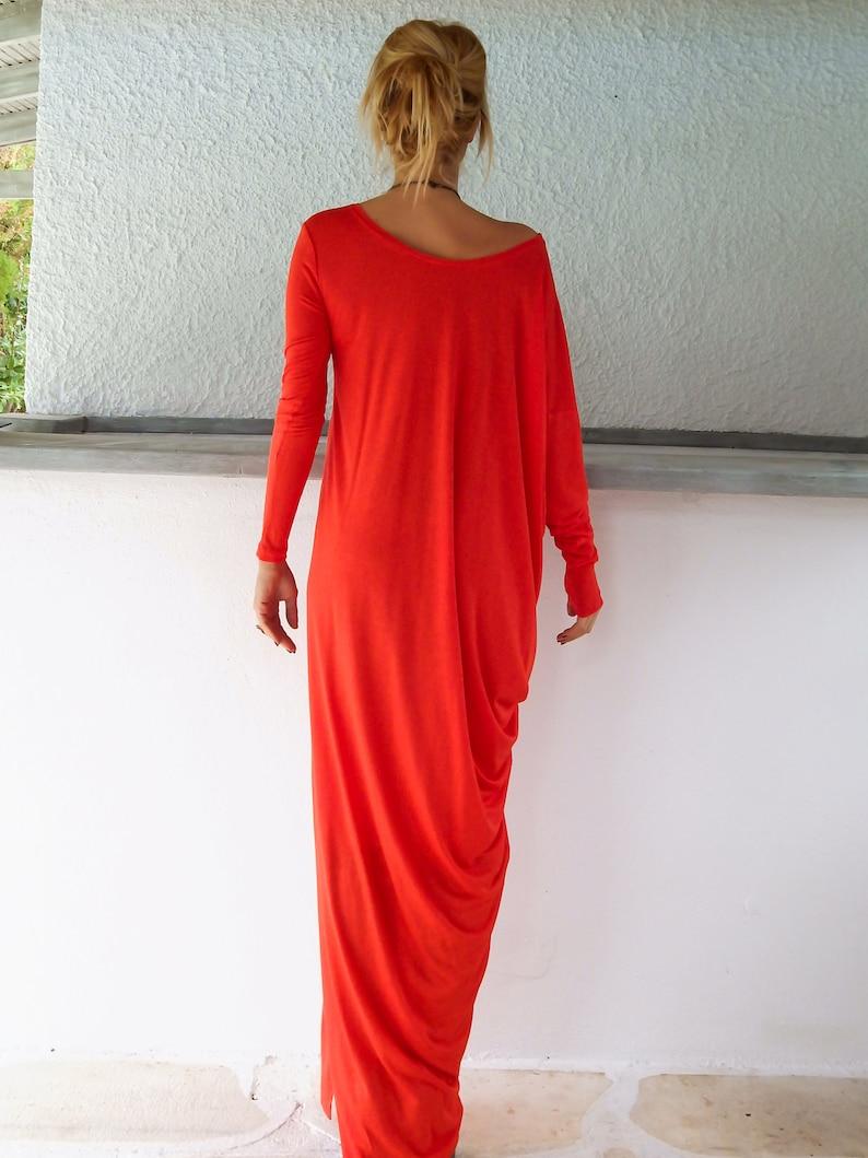 Maxi-Kleid / grau Maxi-Kleid / Langarm-Kleid / Plus Größe ...