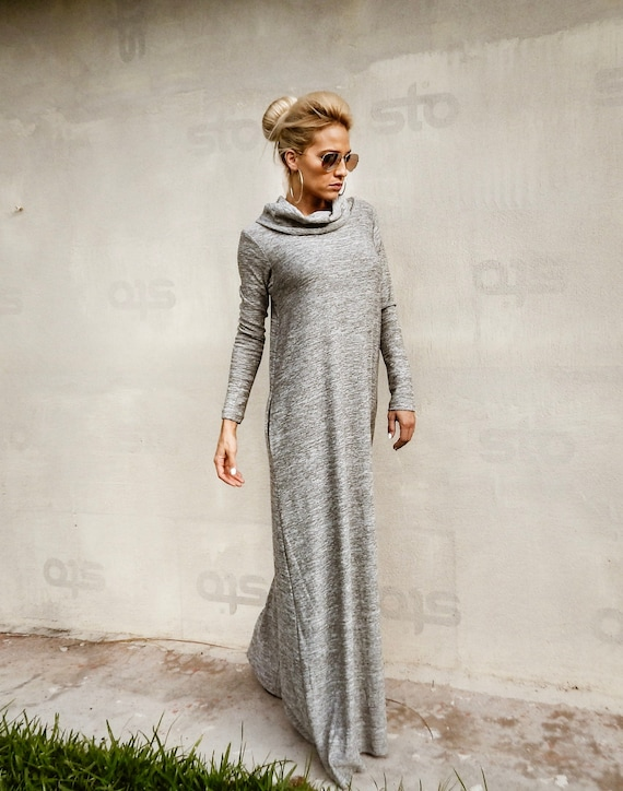 New Winter Maxi Dress Sweater Dress Plus Size Dress Etsy