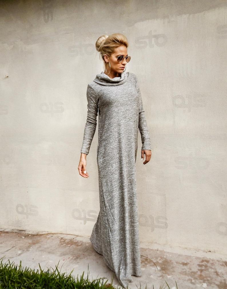 b62d8ac73 NEW Winter Maxi Dress / Sweater dress / Plus Size Dress / | Etsy