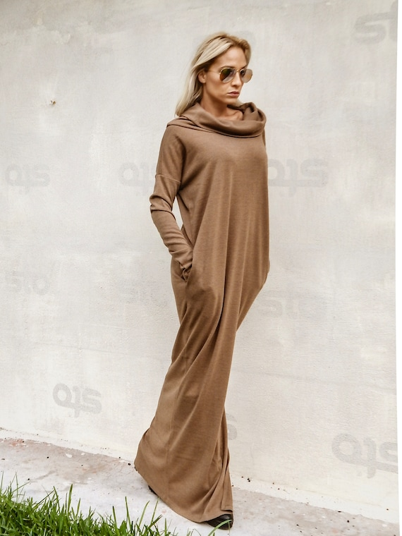 NEW Winter Maxi Dress / Sweaterdress / Plus Size Dress / Turtleneck Dress /  Plus Size Maxi Dress / Long Dress / Dress With sleeves / #35283