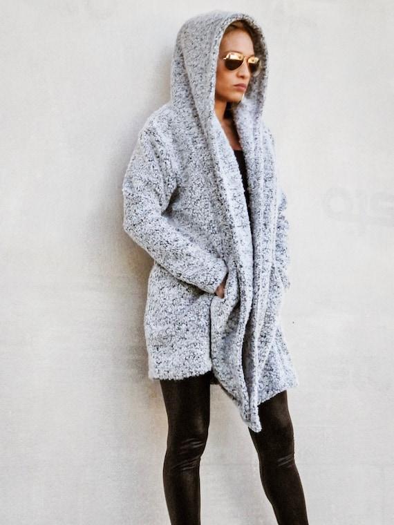 Veste Manteau Coupe Vent À Capuche Femme, Baggy Warm