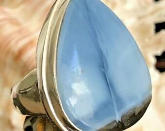 Natural Owyhee Blue Opal   Handmade 925  Sterling Silver Plated Pendant Earrings Sets Jewelry  AZ 11731