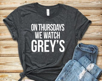 graphic tee, unisex, funny t shirt, funny t-shirt, funny sayings, On Thursdays we watch Grey's Anatomy Shirt, karev shirt, meredith grey