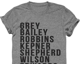 Meredeth shirt, Grey's T shirt, Grey's Anatomy, Funny tv show shirt, tv show, funny t shirt, Current FEMALE cast of Grey's - Anatomy Shirt.