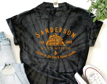 Tie Dye Sanderson Witch Museum Halloween Shirt *MANY COLORS* available ! fast free shipping halloween shirts