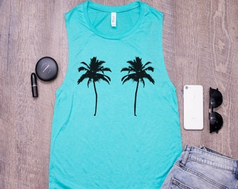 1d4e86c87c9400 Womens cruise ship palm tree tank top - Funny vacation tank top for Women