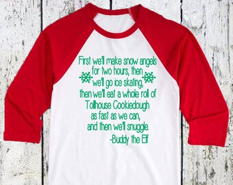 Youth Buddy The Elf Christmas T-Shirt. kids christmas shirts. youth christmas shirt.