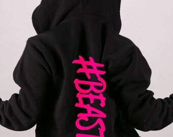 ca58441de48 Beast  BeastMode- Hoodie Zip up Sweatshirt. Running Sweatshirt. Gym  Sweatshirt. Off Shoulder Sweatshirt. Muscles   Mascara. Gym Hoodie.