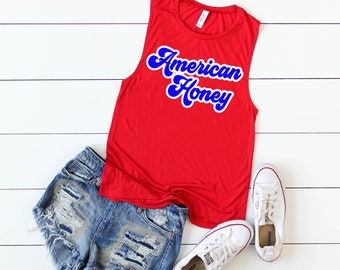 28fdd62ca202bc 4th of july tank American honey Mens and Womens sizing fourth of july  patriotic tank top muscle red white cute trending high quality 4th