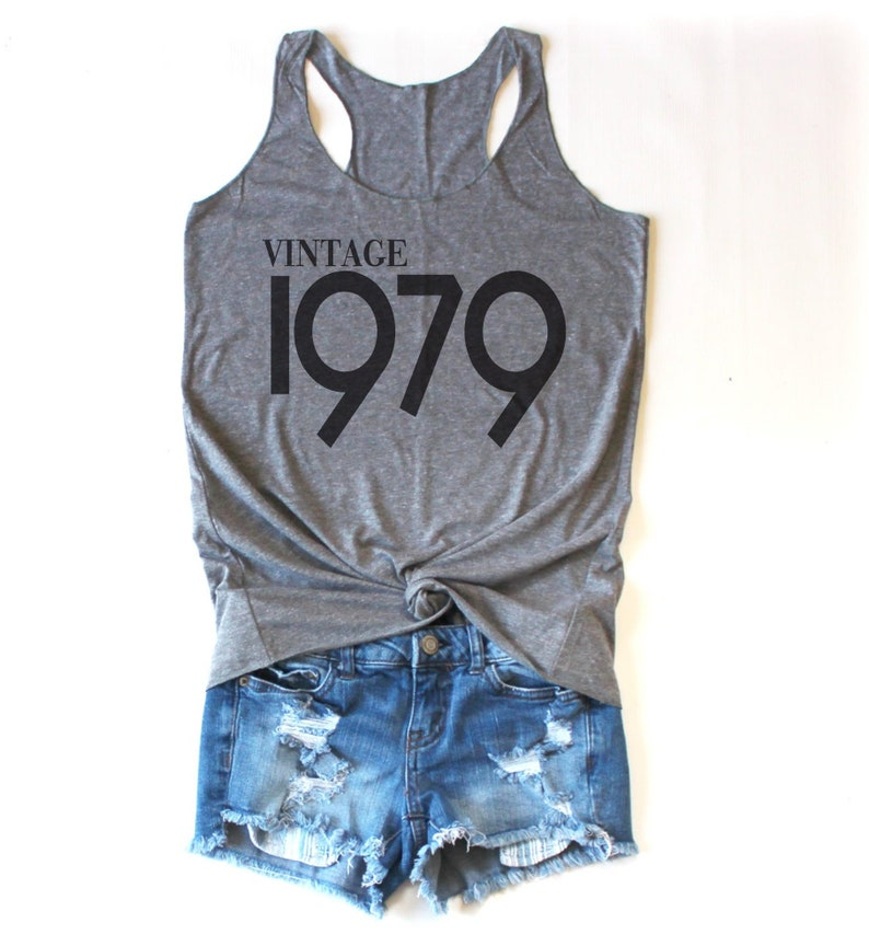 40th Birthday Gifts For Women Vintage 1979 Tank Top Gift Etsy