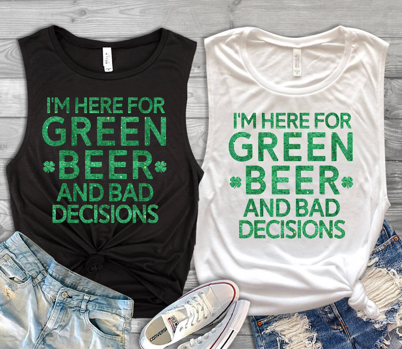 f0ad98391 St Patricks Day Shirt Womens Green Beer Muscle Shirt Womens | Etsy