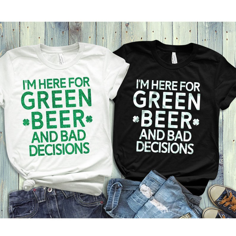 be8433954d19 St patricks day shirt women bad and boozy Womens St | Etsy