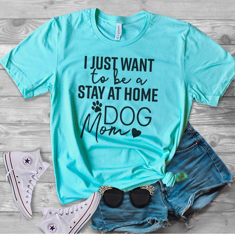 a8390f3106 Stay At Home Dog Mom Dog Shirt Dog Lover Funny Dog Tee | Etsy