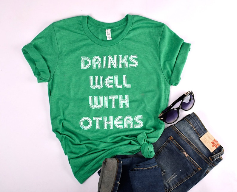 a09f02ebe St patrick day shirt drinks well with others irish st | Etsy