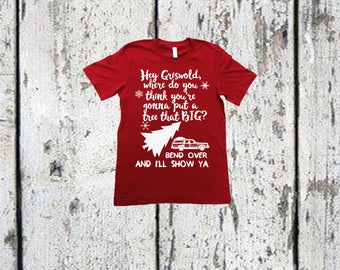 Kids Christmas Shirt - Vacation - hey griswold - tree funny wagon holiday youth tshirt.