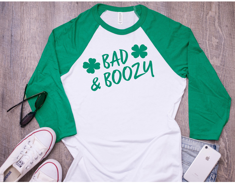 982908863 St. Patricks Day Shirt Women Bad and Boozy St Pattys Day | Etsy