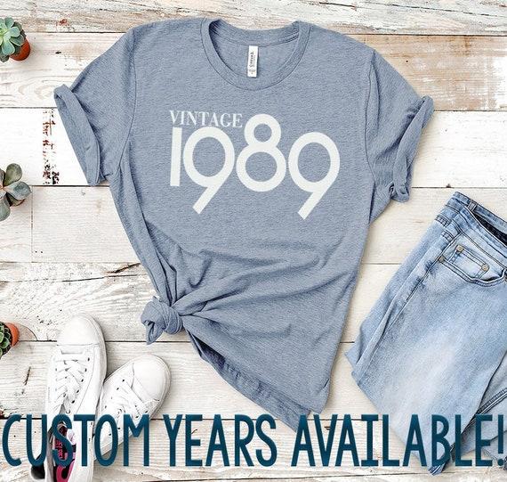 Vintage 1989 Shirt 30th Birthday Cute