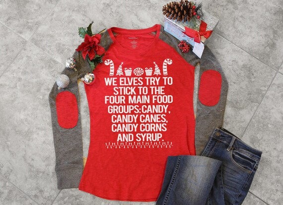 Candy /& Candy Canes /& Corns Syrup Jumper Sweater Top Sweatshirt Funny Elf Buddy