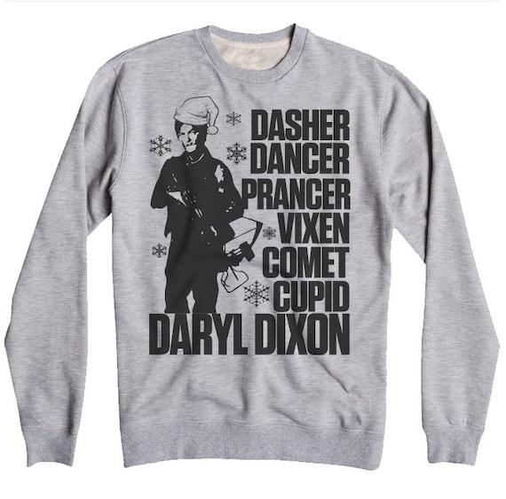 Unisex Walking Dead Sweatshirt Daryl Dixon Christmas Etsy