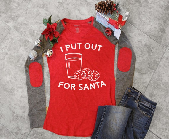 Plus Size Christmas Shirt For Women Put Out For Santa T Shirt Etsy