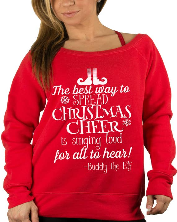 Buddy The Elf Christmas Sweater Christmas Cheer Womens Etsy