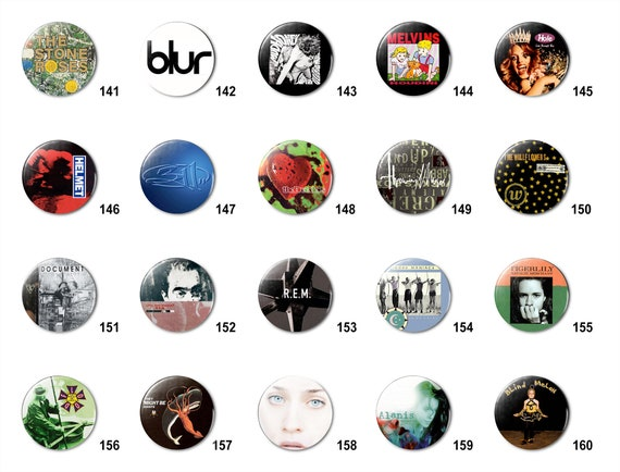"60 Custom 2.25/"" 2 1//4 inch buttons badge pin punk bands indie pins personalized"