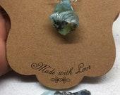 Blue Dendritic Peruvian Opal Necklace