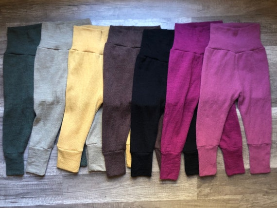 Assorted Colors 0-6 month Grow-With-Me Wool Longies