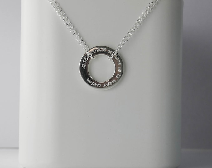 Pendant respect. Silver necklace.