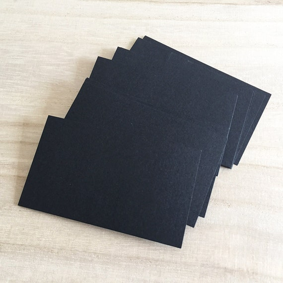 100 pcs blank business cards black business card colored cardstock 100 pcs blank business cards black business card colored cardstock c0028 from tinybees on etsy studio reheart Image collections