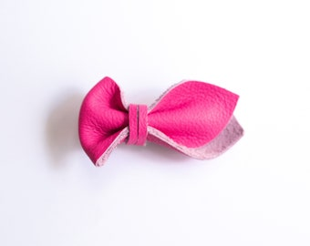 Hot Pink Tulip Bow Clip