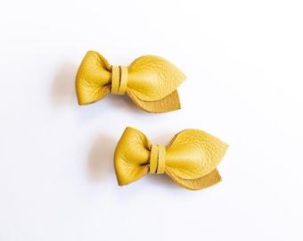 Mini Bows - Canary Yellow