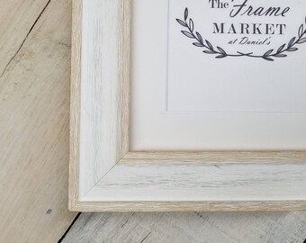 Alby White Wash Barn Wood Art U0026 Picture Frame With White Mat 8x10, 9x12,  11x14, 14x16, 16x20 Standard And Custom Sizes Available.