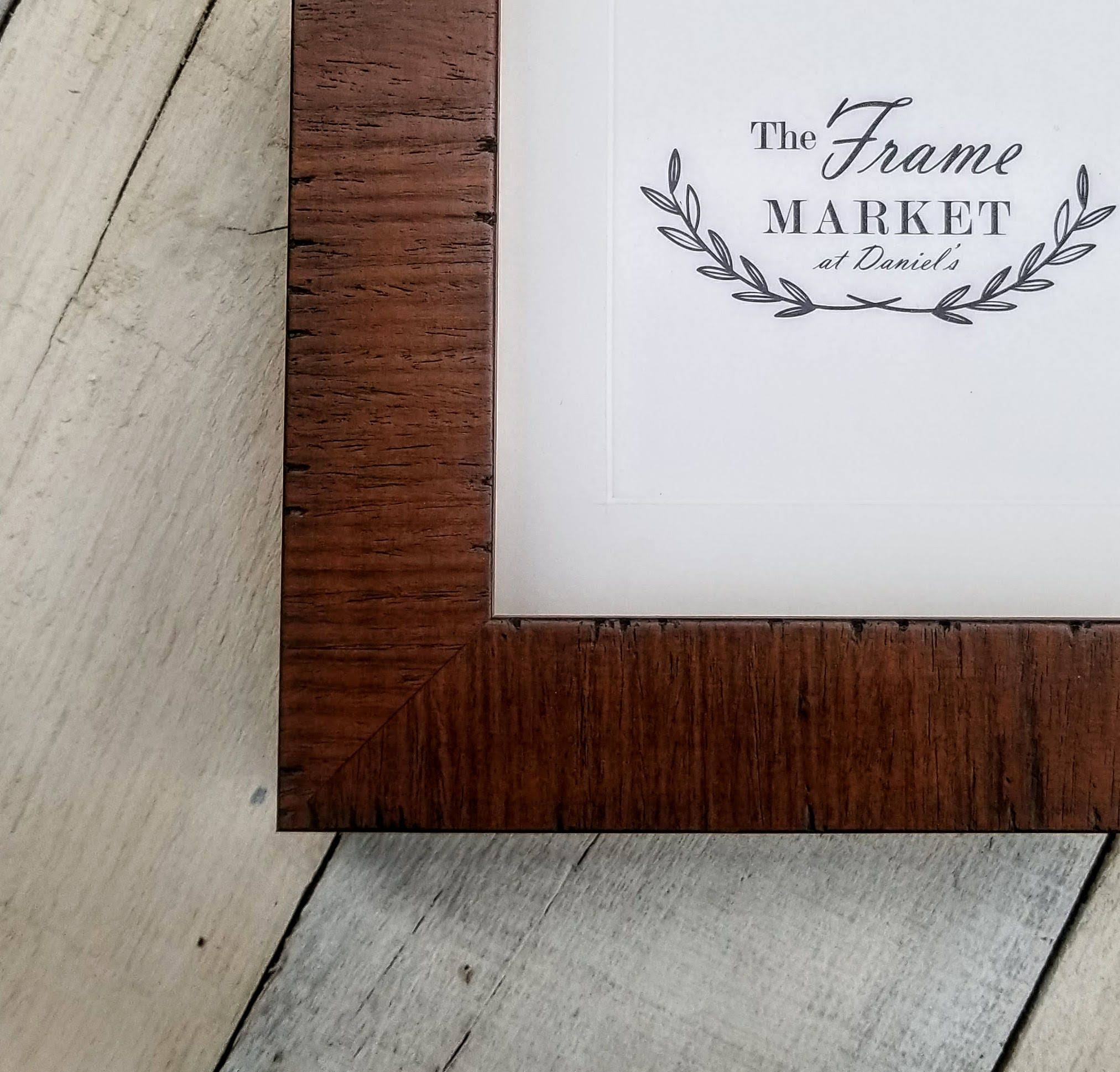 Lanais Walnut Wood Picture Frame With White Mat 8x10 9x12