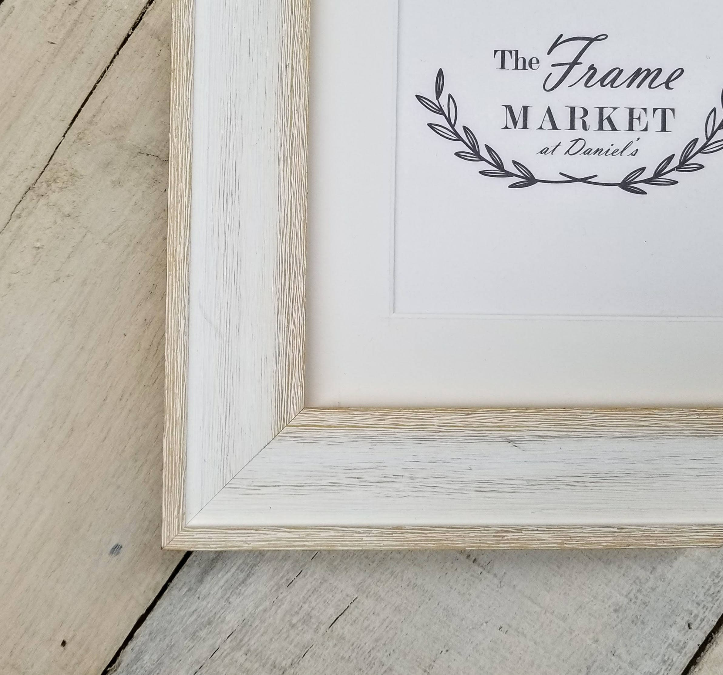 Alby White Wash Barn Wood Art Amp Picture Frame With White