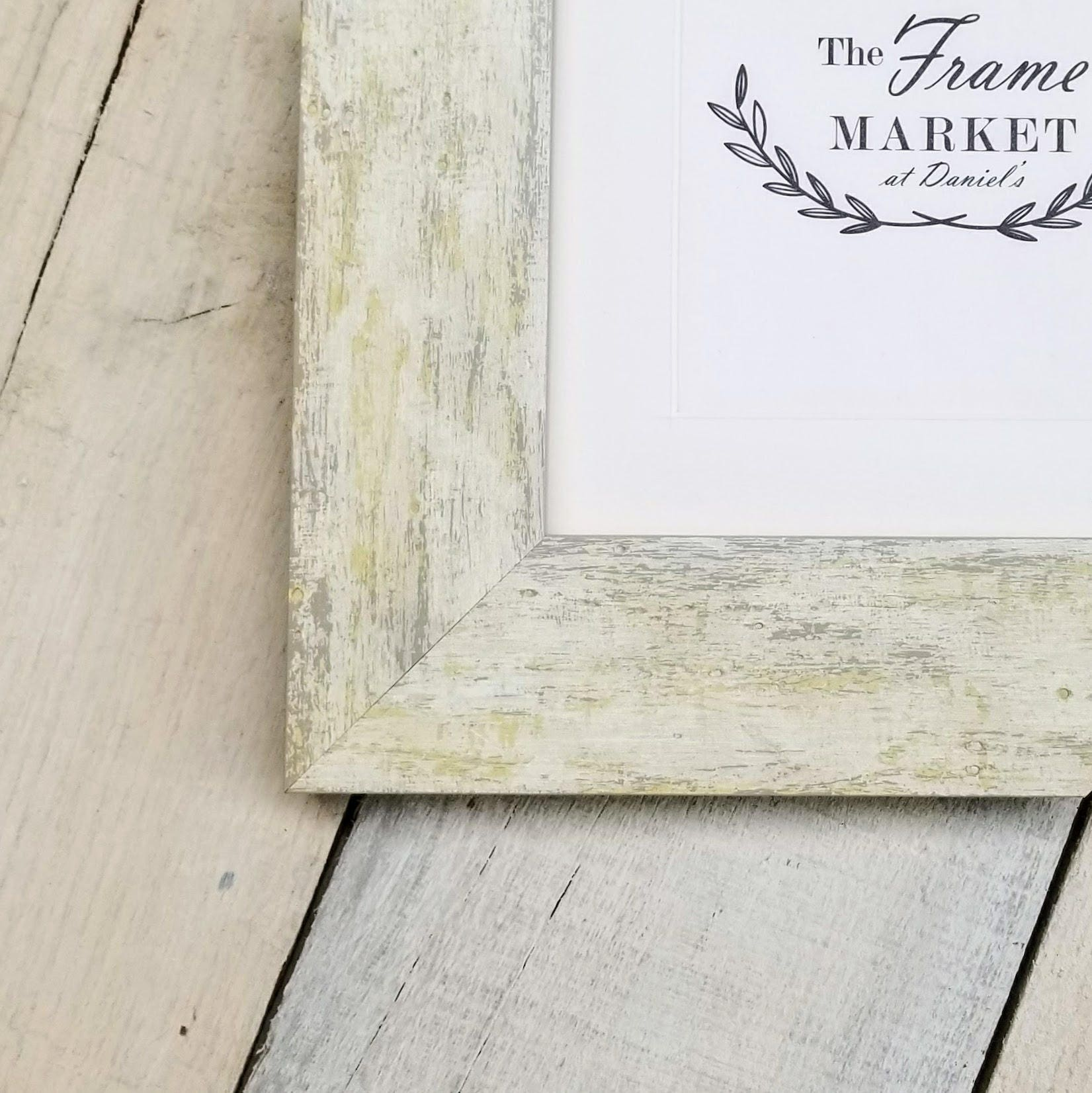 Hampshire White Wash 2 Distressed Wood Picture Frame