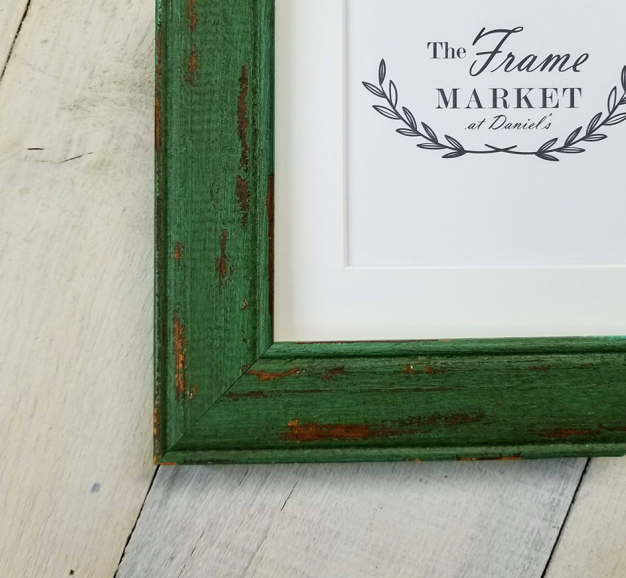 Benjamin Green Barn Wood Picture Frame With White Mat 8x10