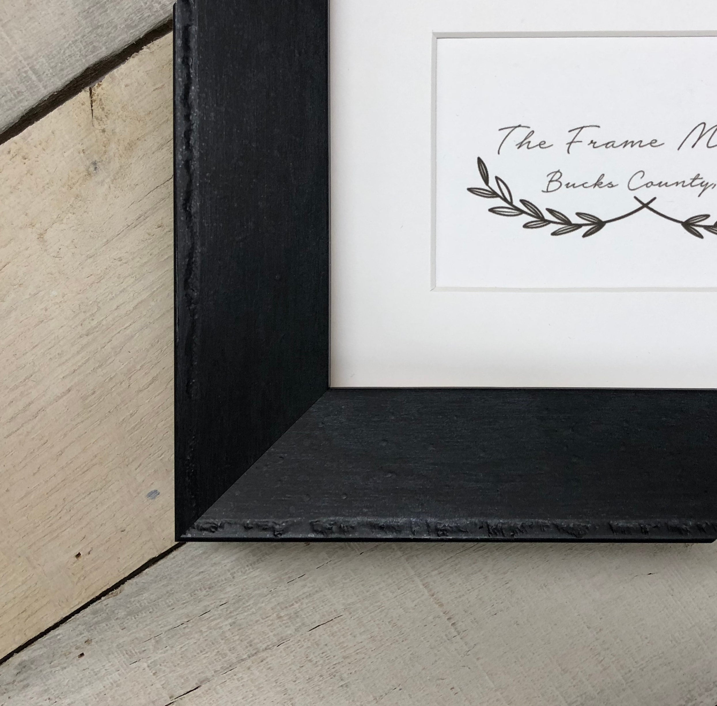 Foundry Black 1 3 4 Wood Picture Frame With White Mat
