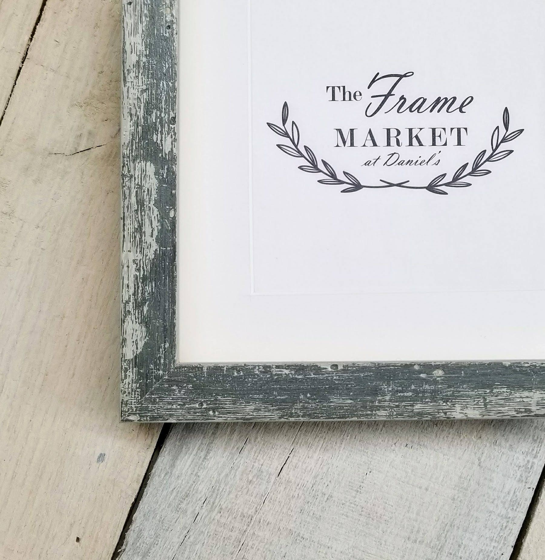 Hampshire Grey Wash 1 Distressed Wood Picture Frame With