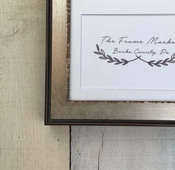 9x12 16x20 Standard and custom sizes available. Liam Industrial Wood Picture Frame with White Mat 8x10 14x16 11x14