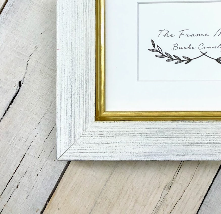 Stella Farm House Designer Wood Picture Frame With Mat 5x7