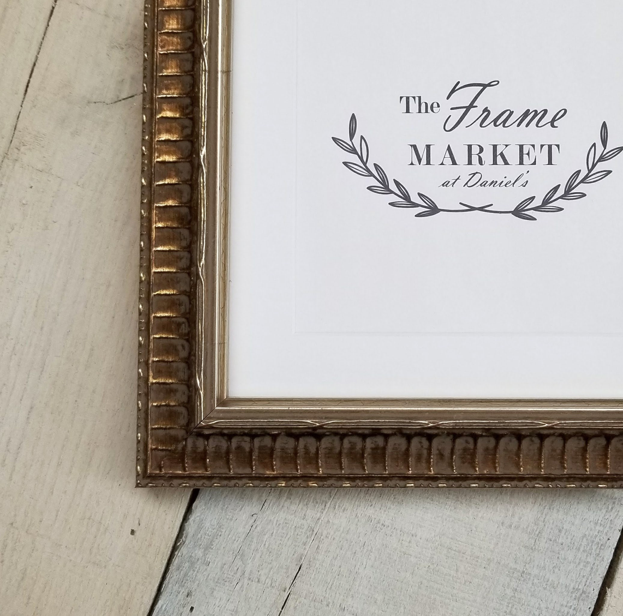 Margaux Silver Gold Wood Picture Frame Wih White Mat 8x10