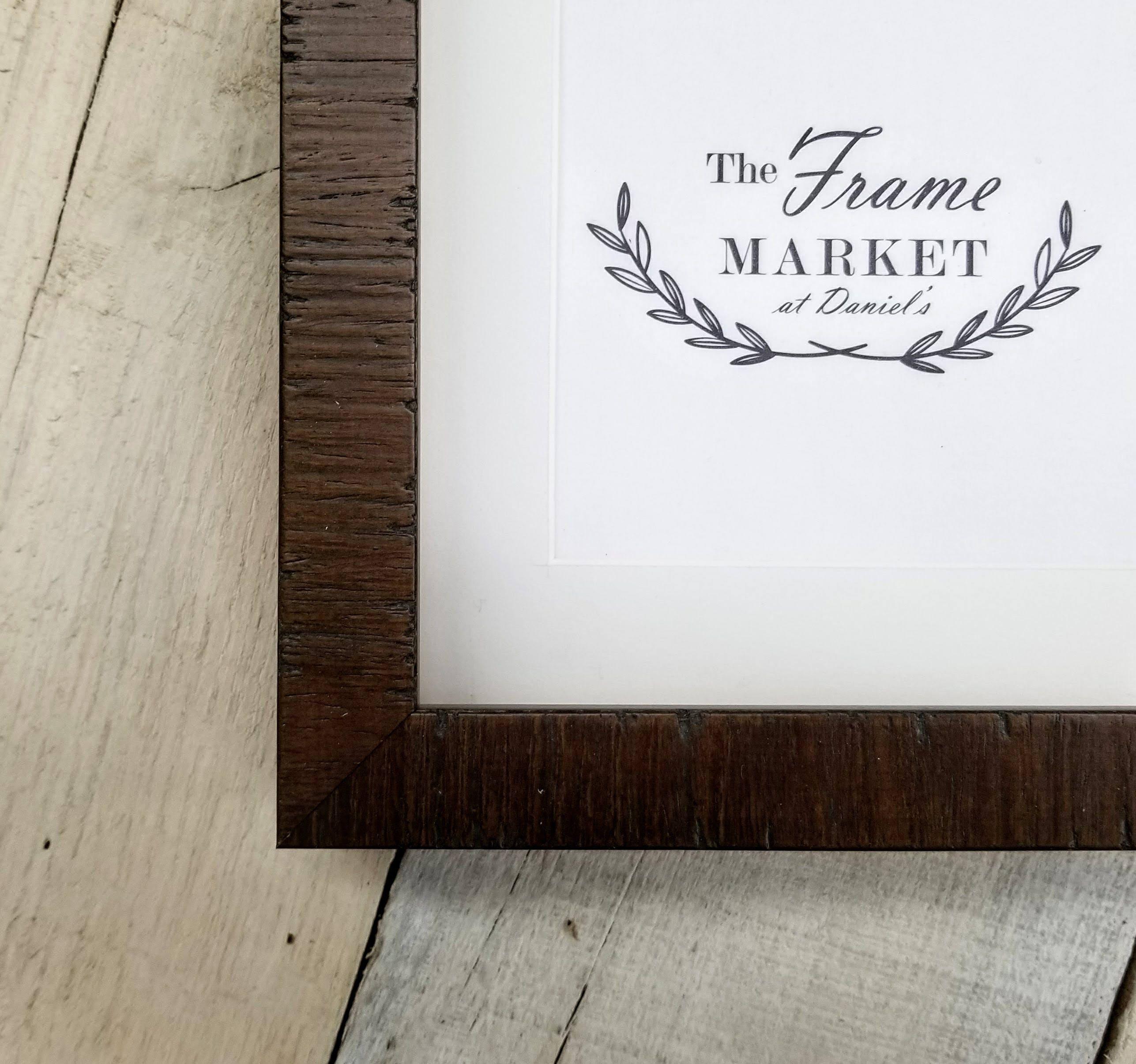 Lanais Dark Walnut Wood Picture Frame With White Mat 8x10
