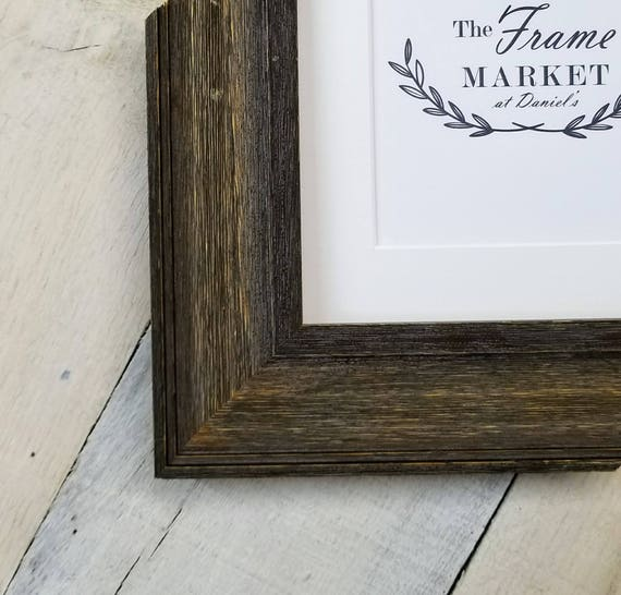 Donagh Barn Wood Picture Frame With White Mat 8x10 9x12 Etsy