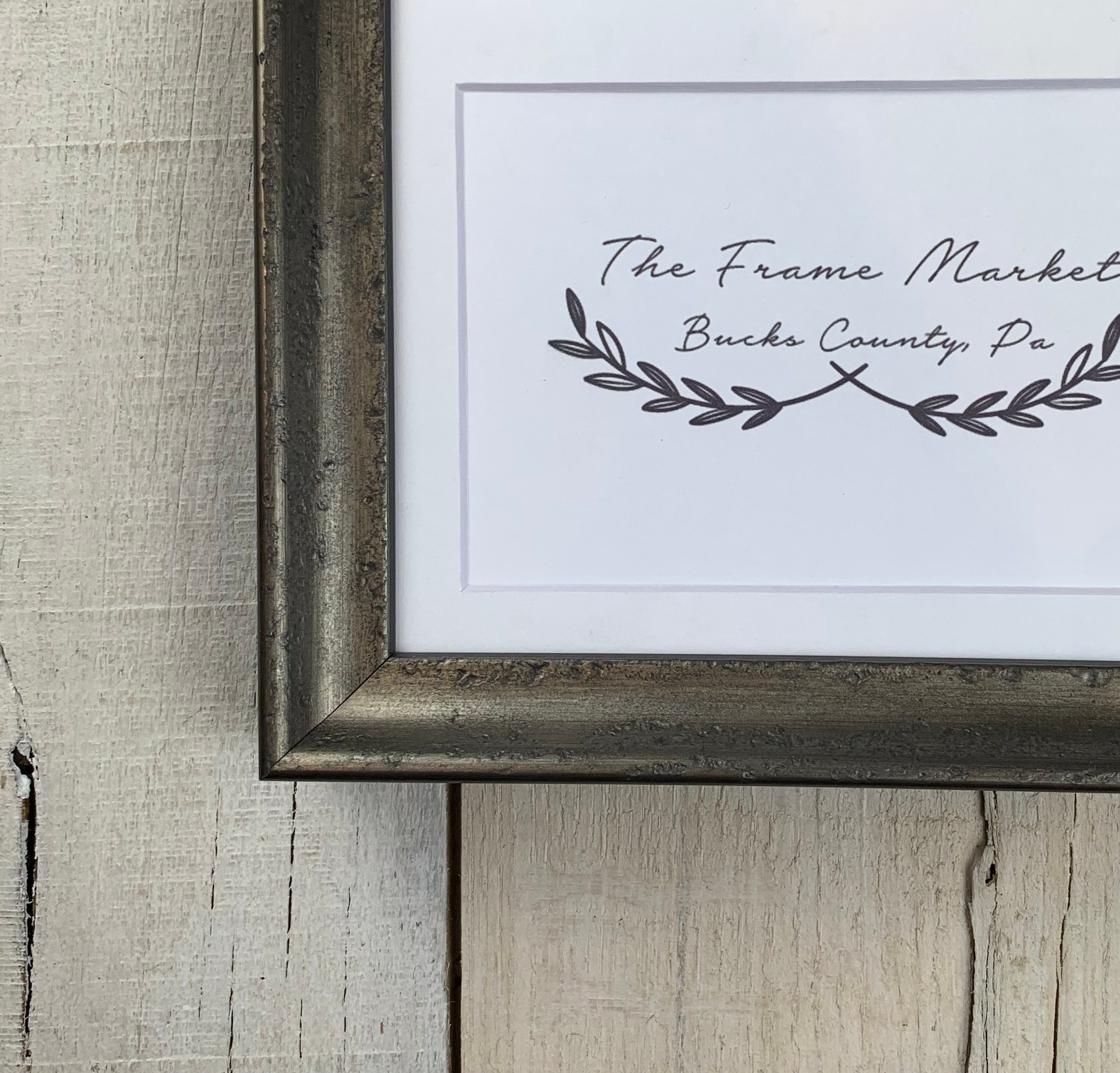 Xaiver Pewter 3 4 Wood Picture Frame With White Mat 8x10