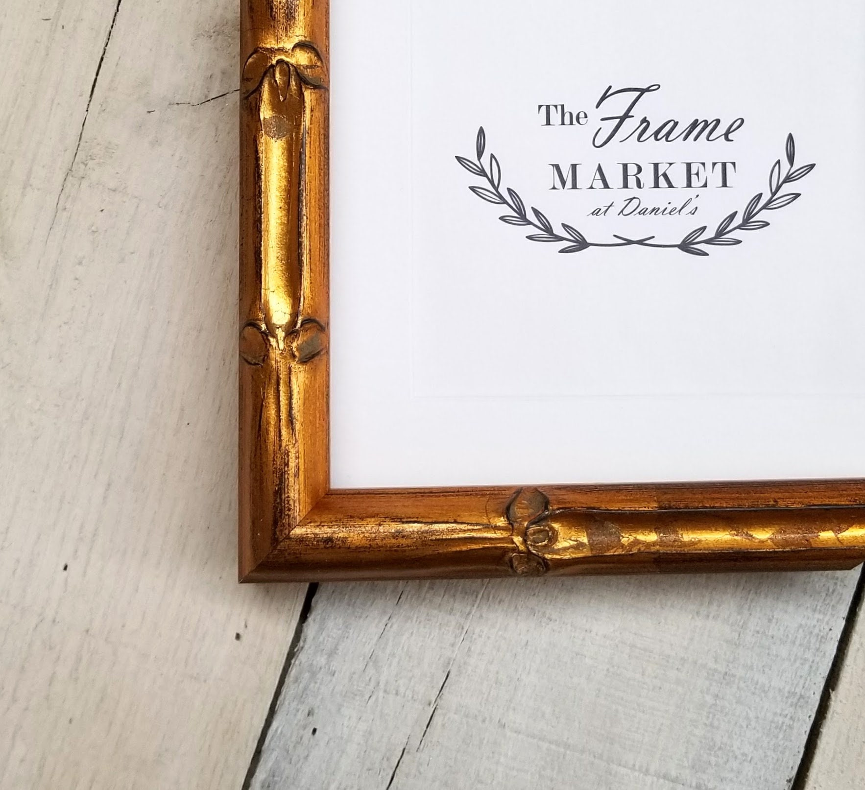 Lucky Large Bamboo Gold Wood Picture Frame with White Mat 8x10, 9x12 ...