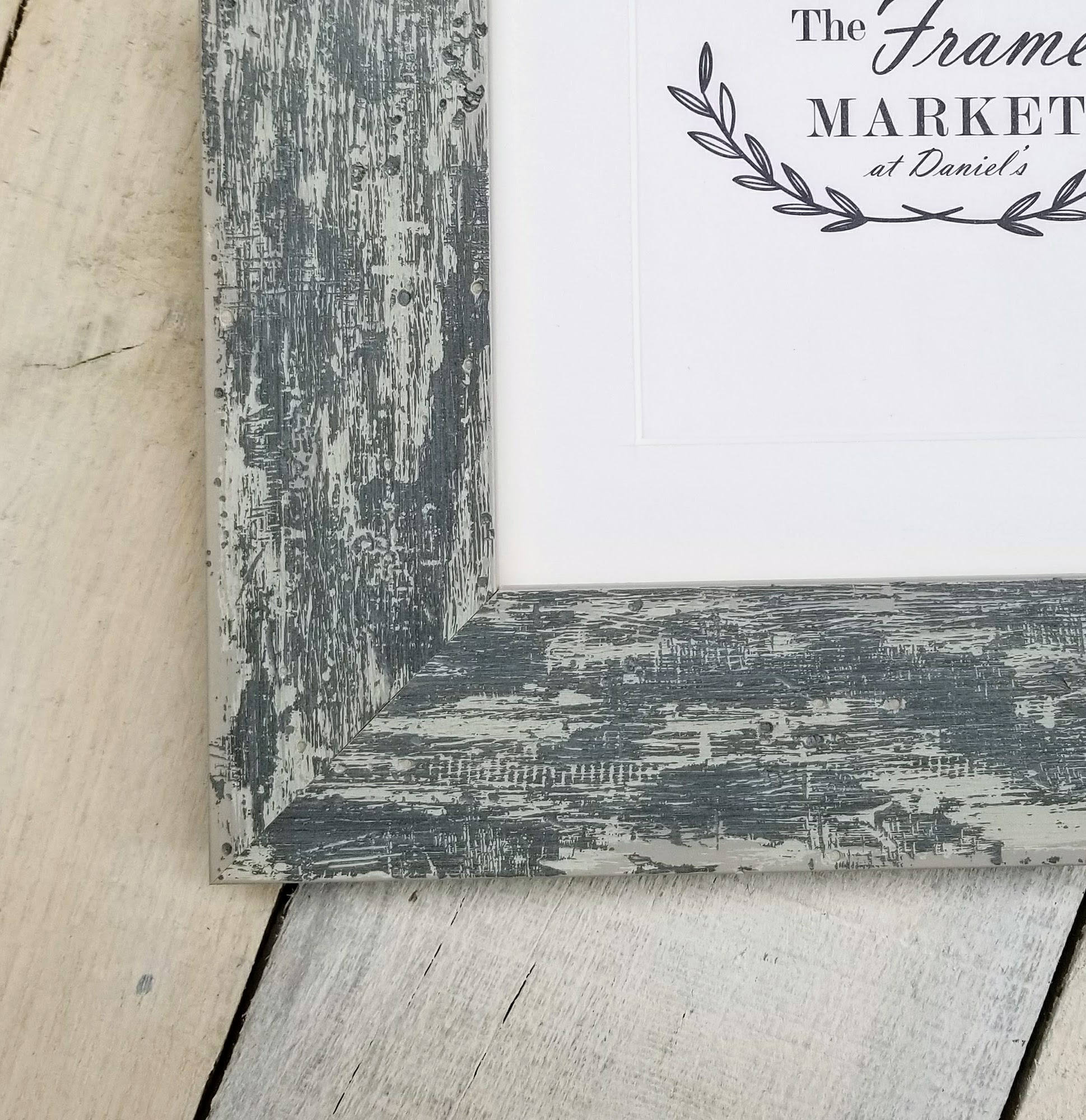 Hampshire Grey Wash 2 Distressed Wood Picture Frame With